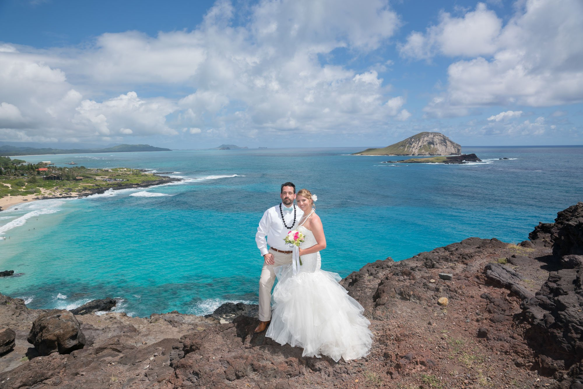 10hawaii waimanalo morning wedding makapuu lookout - oahu beach weddings